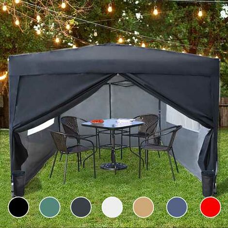 BIRCHTREE Pop Up Gazebo 3X3M Black