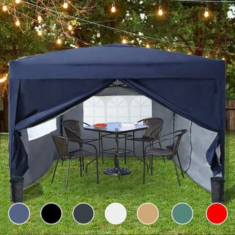BIRCHTREE Pop Up Gazebo 3X3M Blue