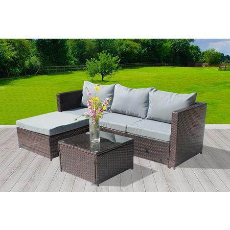 BIRCHTREE Rattan Furniture Set RFS01 Brown