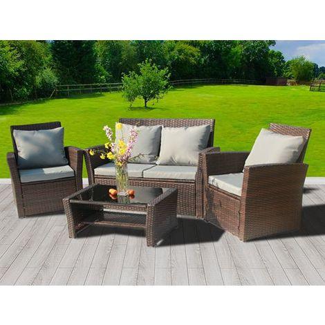 BIRCHTREE Rattan Furniture Set RFS02 Brown