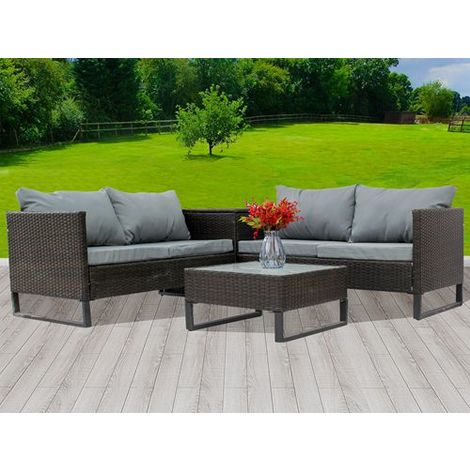 BIRCHTREE Rattan Furniture Set RFS03 Brown