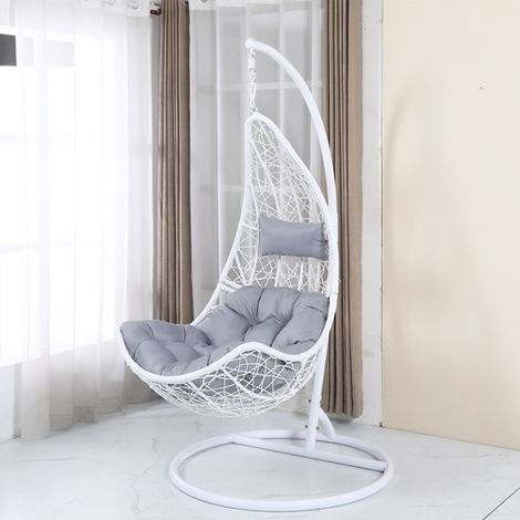BIRCHTREE Rattan Swing Chair BT-RSC01 White