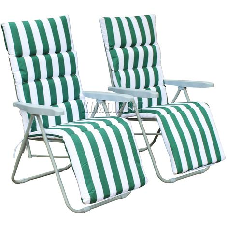 BIRCHTREE Sun Recliner With Cushion FH-SR01 Green