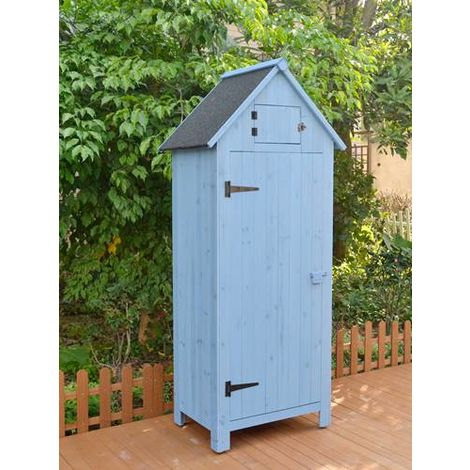 BIRCHTREE Wooden Beach Hut WBH01 Blue