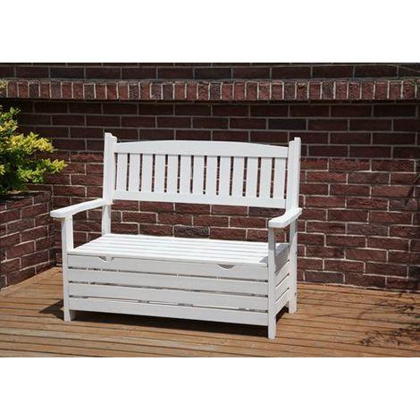 BIRCHTREE Wooden Garden Bench WGB03 White