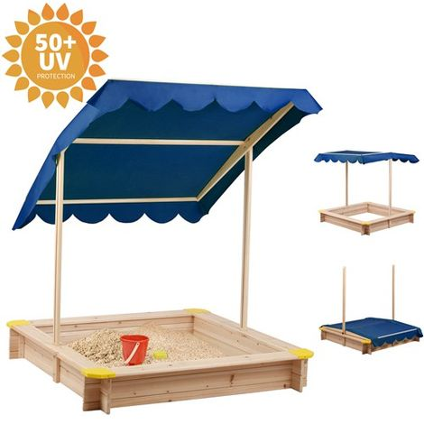 BIRCHTREE Wooden Sandpit 120 x 120CM BT-SP01 Blue