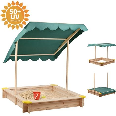 BIRCHTREE Wooden Sandpit 120 x 120CM BT-SP01 Green