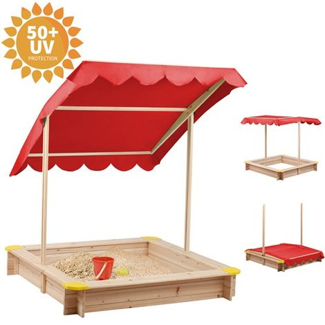 BIRCHTREE Wooden Sandpit 120 x 120CM BT-SP01 Red