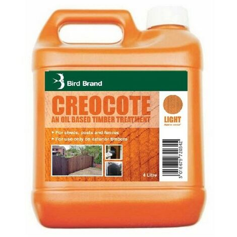 Bird Brand 0020 Creocote Timber Treatment Light Brown 4 Litre