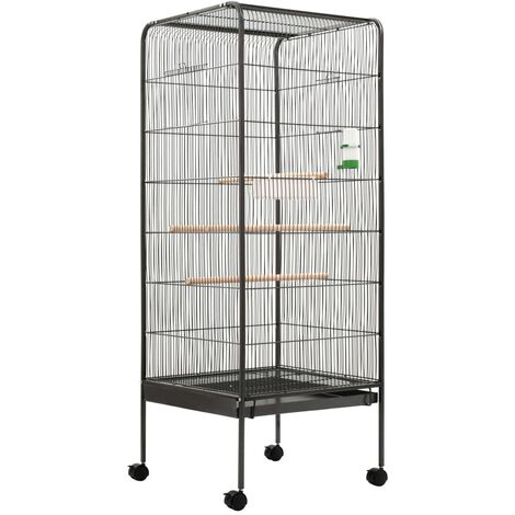 Bird Cage Grey 54x54x146 cm Steel