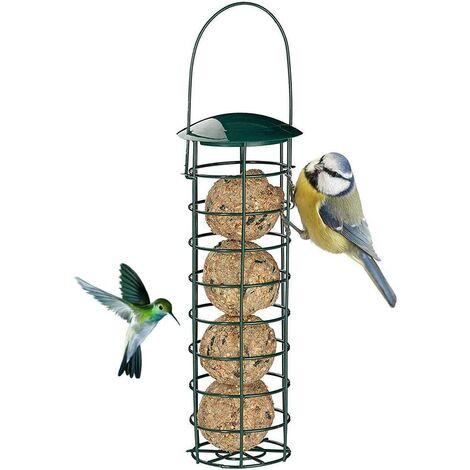 "main image of ""Bird feeder, food distributor for outdoor bird feeders, for grease balls for dumplings, for small wild green wild birds"""