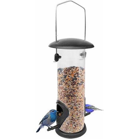 "main image of ""Bird Feeding Station, Panoramic Bird Feeder, Automatic Feeder Screw Cover, Hanging Acrylic Glass Feeding Column, Feeder, Squirrel Free, for Wild Bird Balcony Garden SOEKAVIA"""