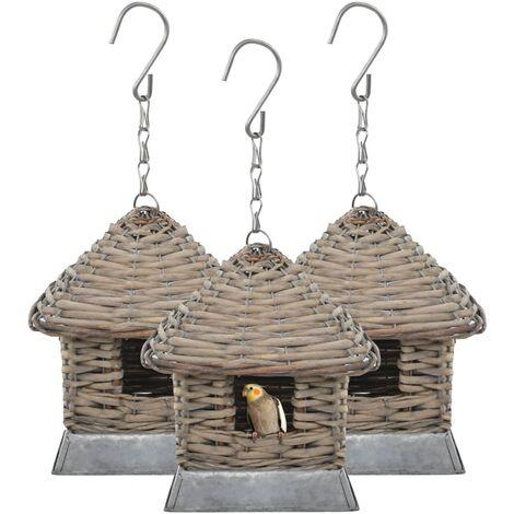 Bird Houses 3 pcs Wicker