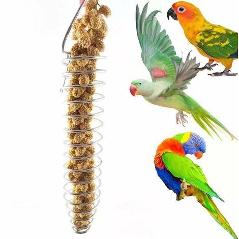 Bird toy stainless steel parrot bird fodder basket The forage device can put fruit corn millet vegetables