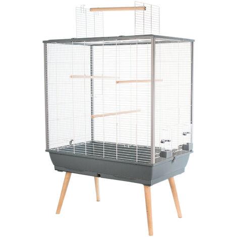 Birdcage NEO JILI. Grey color. 78 x 48 x height 80 cm.