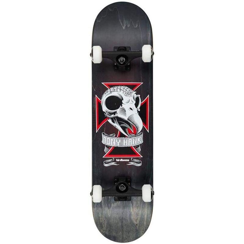 Image of Stage 3 Skull 2 Complete Skateboard - Black 8.125' - Birdhouse