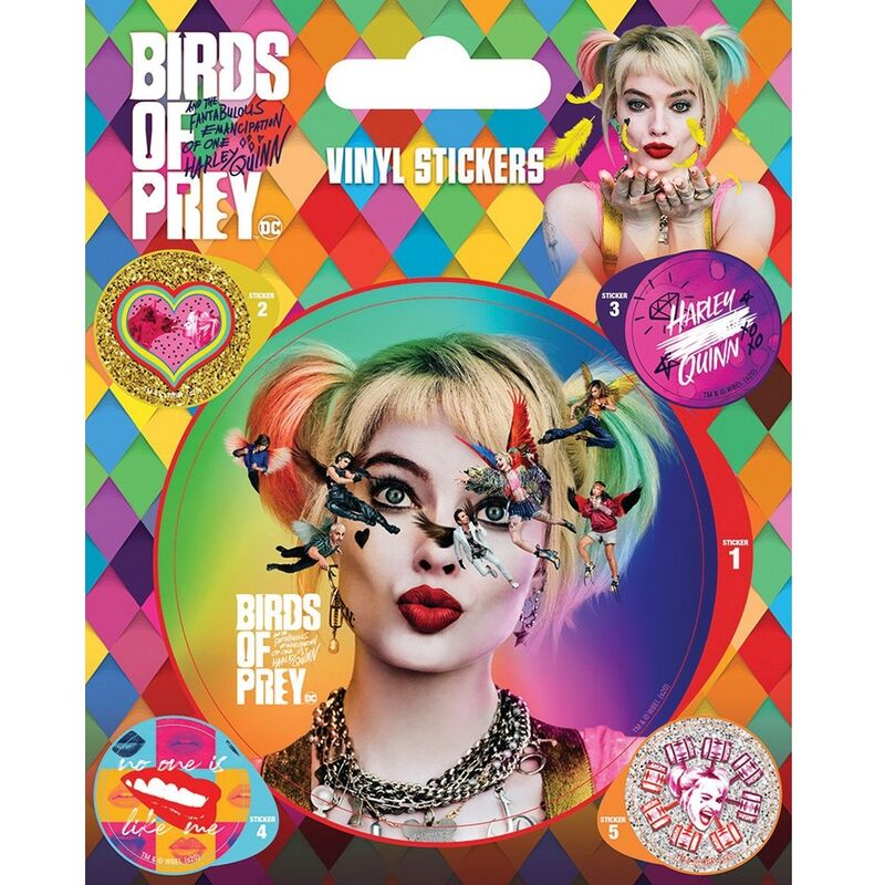 Image of Seeing Stars Vinyl Stickers (Pack of 5) (One Size) (Multicoloured) - Birds Of Prey