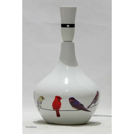 Birds On A Wire White Ceramic Table Lamp Base