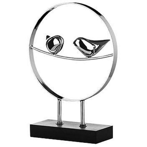 Birds Sculpture,Silver,On Stand