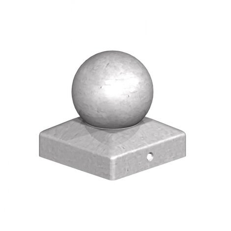"""main image of """"Birkdale Metal Ball Finial Post Cap 100mm (4"""") Galvanised"""""""