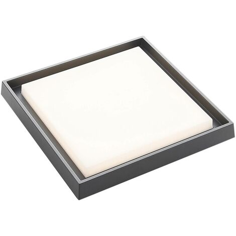 Birta LED outdoor ceiling light, angular, 34 cm