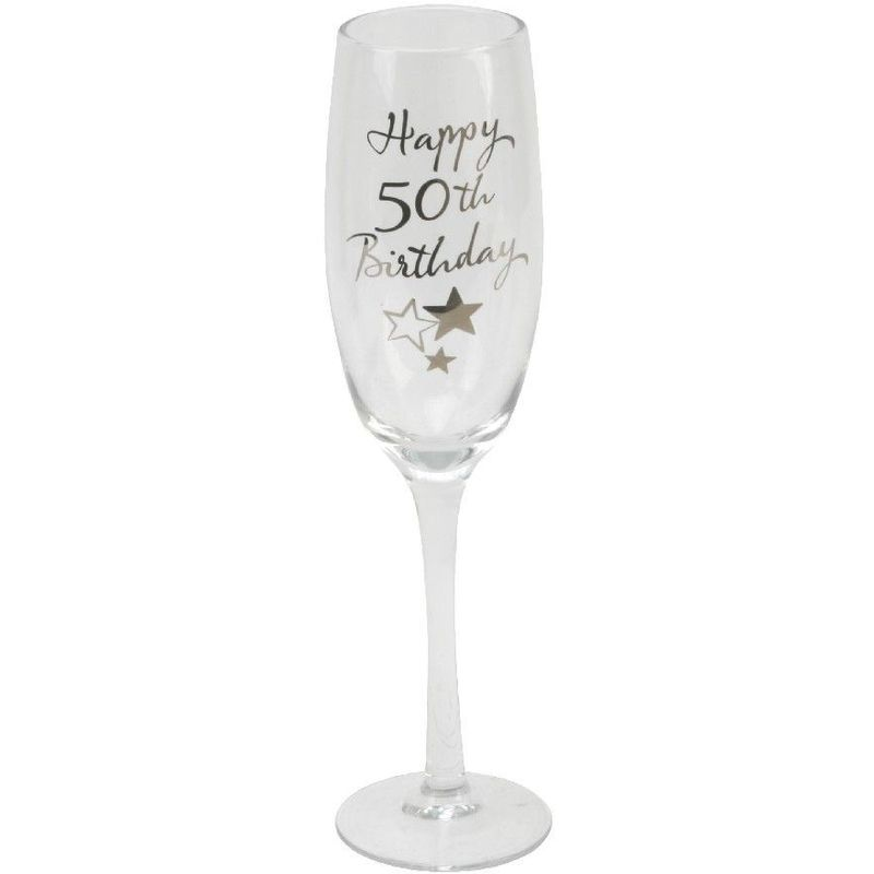 Image of Juliana 50th Birthday Champagne Flute