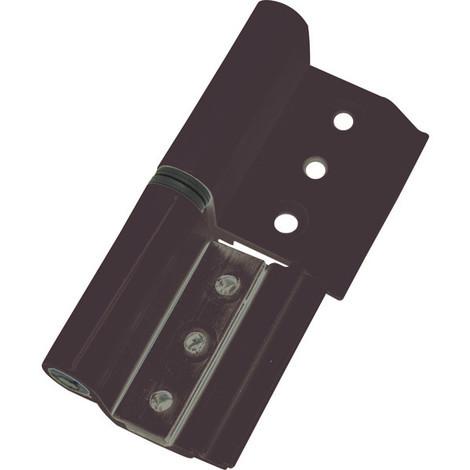 Bisagra Aluminio Negro 6813 40/20 Derecha - MICEL - 68041
