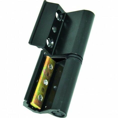 Bisagra Carpinteria Metalica Perfil Europeo Aluminio Negro 6812 Izq