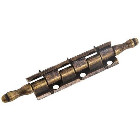 Bisagra desmontable con pasador y remate oro viejo 87 mm.