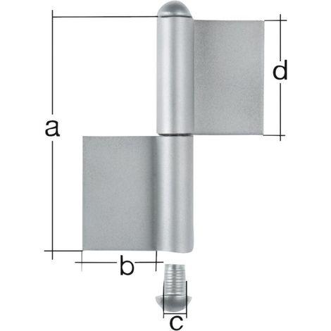 Bisagra doble 2350/K04/80 mm