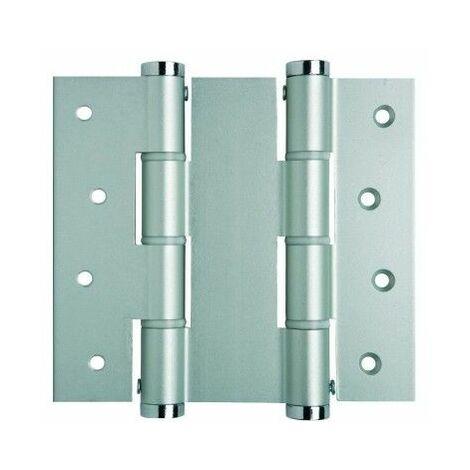 Bisagra Puerta Vaiven Doble Accion 120X40Mm 5414.01 Inox Plata Justor 2 Pz