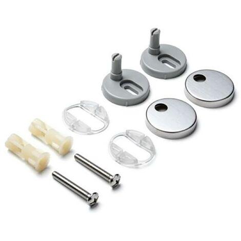 Bisagra Inodoro Tapa Wc Aluminio Gris Optima Tatay