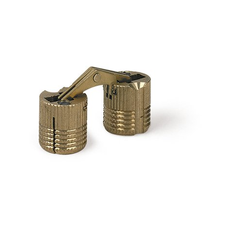 Bisagra oculta o invisible, fabricada en latón y con forma cilíndrica