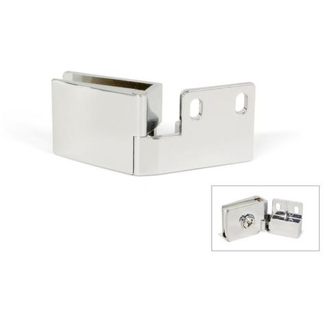 Bisagra para puerta de cristal canto interior - varias tallas disponibles
