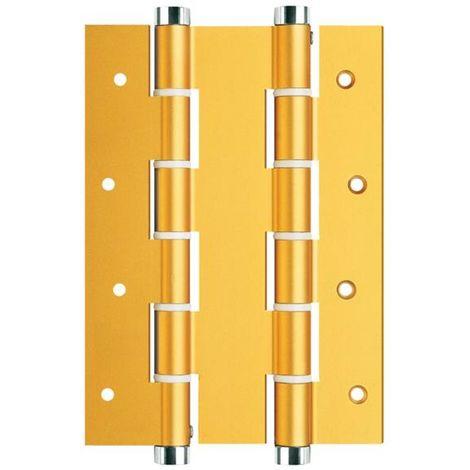 Bisagra Puerta Vaiven Doble Accion 180X40Mm Inox Oro Justor 2 Pz