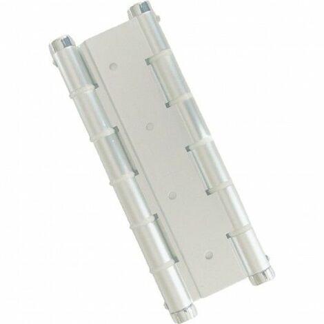 Bisagra Puerta Vaiven Doble Accion Aluminio Blanco Micel