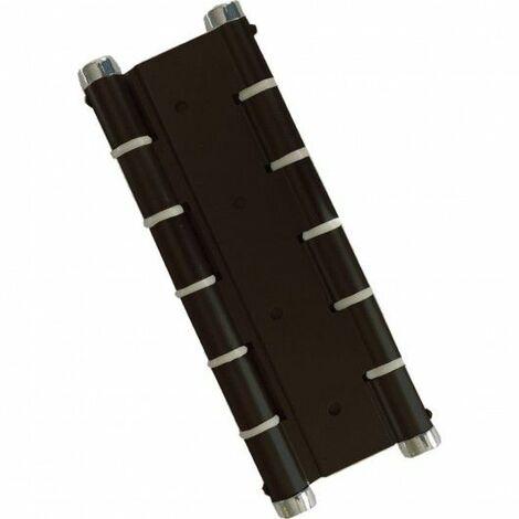 Bisagra Puerta Vaiven Doble Accion Aluminio Negro Micel