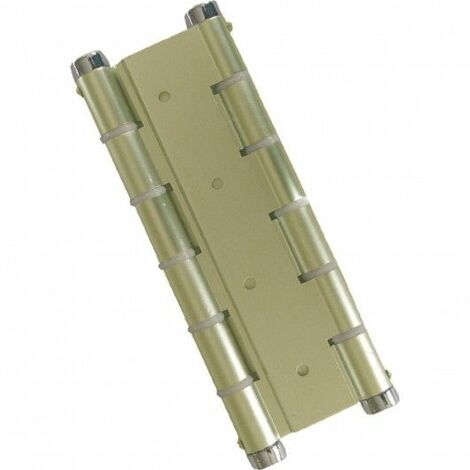 Bisagra Puerta Vaiven Doble Accion Aluminio Oro Micel
