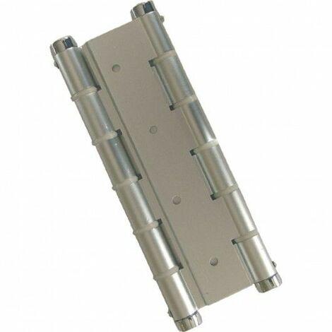 Bisagra Puerta Vaiven Doble Accion Aluminio Plata Micel