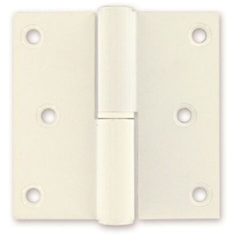 Bisagra Vynex aluminio blanco 80 x 80 mm a la izquierda - 3 PC