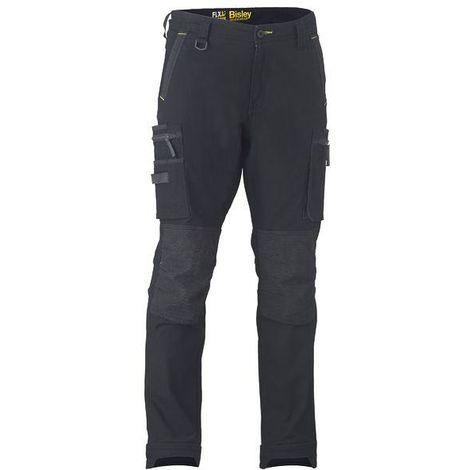 Bisley Flex & Move Stretch Utility Cargo Trousers Kevla Waist 32R