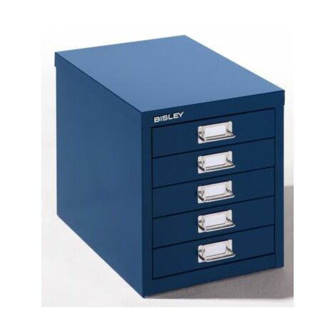 Bisley Schubladenschrank - 5 Schubladen für Format DIN A4