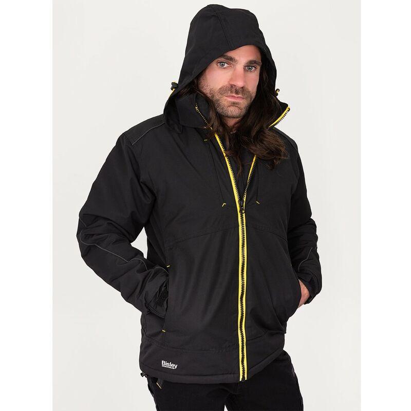 Image of Bisley Workwear Uk - Bisley Workwear Flex & Move Heavy Duty Dobby Jacket - Black - Medium