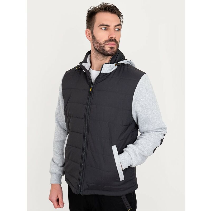 Image of Bisley Workwear Flex & Move Long Sleeve Hooded Puffer Fleece Jacket - Contrast - Large