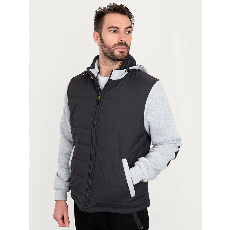 Image of Bisley Workwear Uk - Bisley Workwear Flex & Move Long Sleeve Hooded Puffer Fleece Jacket - Contrast - Medium