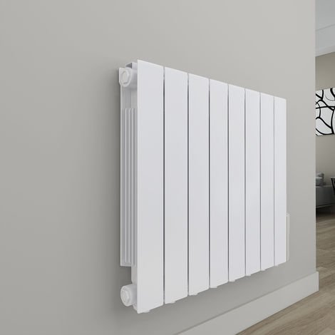 Bismo White Wall Mounted Oil Filled Electric Radiator
