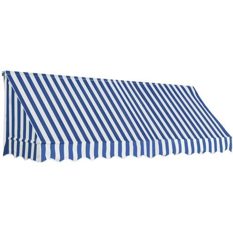 Bistro Awning 300x120 cm Blue and White