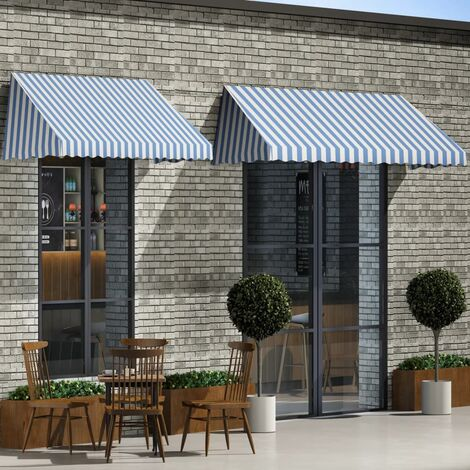 Bistro Awning 350x120 cm Blue and White