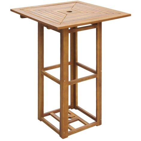 Bistro Table 75x75x110 cm Solid Acacia Wood