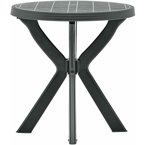 Bistro Table Anthracite ?70 cm Plastic